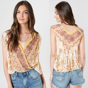 Free People Havana Surplice Muscle Tank Floral